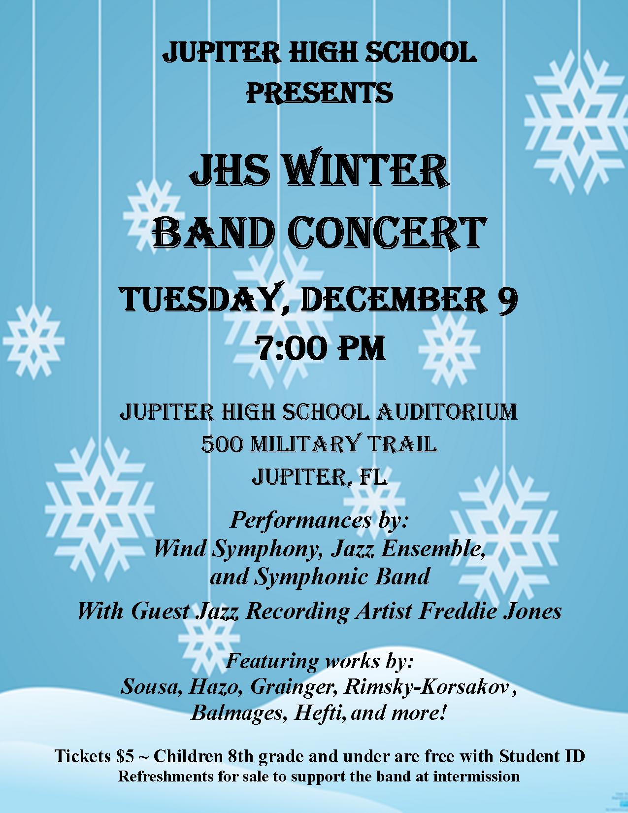 jhs winter band concert flyer 2014