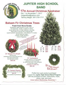 Christmas Tree Fundraiser: Oct 1 to Nov 1